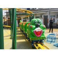 Quality Green Worm Shape Kiddie Roller Coaster For Large Parks And Tourist Attractions for sale