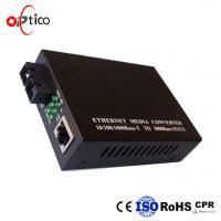 China 100/1000M SFP Optical Transceiver Media Converter AC/DC 5 V 1 Fiber Tx1550nm/ Rx1310nm 20km for sale