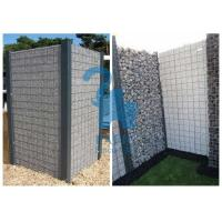 Quality High Speed Roads Paving Stone Cages Gabions , 4pcs Metal Clips Gabion Fence Panels for sale