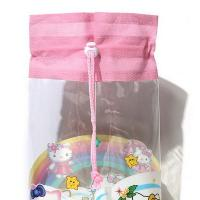 Quality Heat Sealed Technics Clear Drawstring Bags , Small Drawstring Bags For Cosmetics for sale