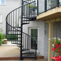 Buy cheap Escape fire spiral staircase , wrought iron spiral stairs , hot galvanized from wholesalers