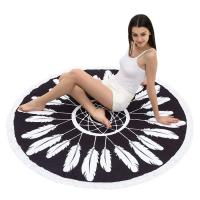 Quality Round Beach Towel Beach Blanket Large Microfiber Towels Yoga Mat With Tassels for sale
