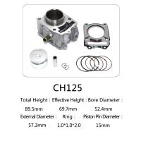 Quality CH 125 Honda 125cc Water Cooled Cylinder Kit For Motorcycle Engine Parts for sale