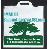 Quality compostable custom printed t-shirt plastic bag with own logo, cornstarch made 100% biodegradable for sale