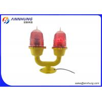Quality Red LED Double Aviation Warning Lights Steady Or Flash Working Mode for sale