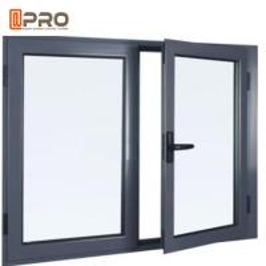 China Black Aluminium Double Glazed Window Vertical Bridge casement sliding window casement aluminium window on sale