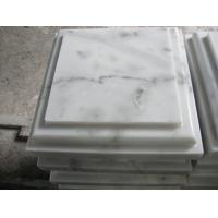 Marble Wall Coping Guangxi White Marble Pillar Cap China Carrara Marble Pier Cap Finials for sale