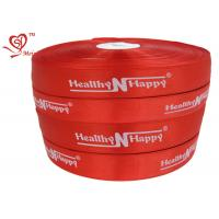 Quality Personalized Words red stain Custom Printed Ribbon Silk Printing for sale