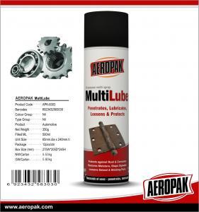 China Aeropak 500ml Anti-Rust Agent Lubricant Spray MultiLube For Rust on sale