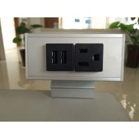 Quality Desk Mounted Power Sockets with 1 Outlets & 2 USB Ports , Metal Tabletop Outlet 125V 15A for sale