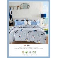 Quality 4 Piece Natural Cotton Bedding Sets , Double Size Cotton King Size Comforter Sets for sale
