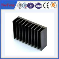Quality Black anodized aluminum extrusion profile supplier, supply aluminum radiator extrusion for sale