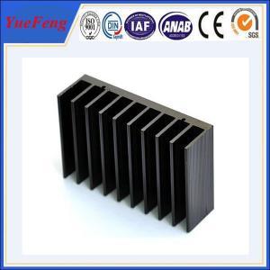Buy Black anodized aluminum extrusion profile supplier, supply aluminum radiator at wholesale prices