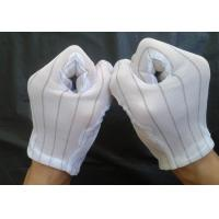 Buy 100% polyester fabric ESD Stripped Glove at wholesale prices