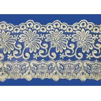 Quality Colorful Lingerie Lace Fabric Custom Made Embroid Organza French Guipure Lace Fabric for sale