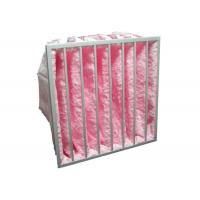 Quality HVAC System Glass Fiber Multi - Pocket Air Filter F6 - F8 Efficiency For Greenhouse for sale
