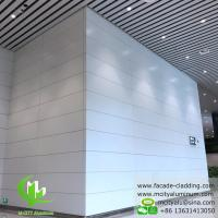 China Interior Wall Covering Aluminum Solid Panel , White PVDF Finish Aluminium Cladding Sheet on sale