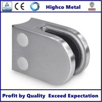 Quality Stainless Steel D Shape Round Glass Clamp 63x45mm Fit 8-10mm Glass for Glass Railing and Balustrade for sale