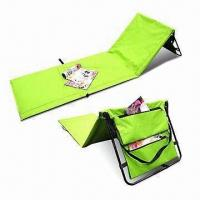 Quality Adjustable Beach Mat, Made of 600D Oxford, with PVC Coating, Easy to Carry for sale
