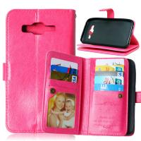Quality Samsung Galaxy J1 J2 J3 J5 J7 Wallet Case Leather Cover Bags Pouch 9 Cards Slot Holder for sale