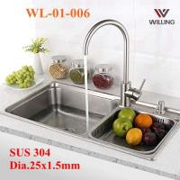 China WL-01-006 SUS304 Kitchen Sink Faucet 35mm cartridge brushed nickel kitchen faucet on sale