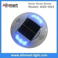 Quality Solar Road Stud ASD-004 6pcs LEDs Solar Road Marker Solar Cat's Lights Solar Accent Lights Solar Security Lights for sale