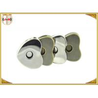 Quality Custom Heart Shaped Magnetic Bag Buttons Clasps Various Surface Finishes for sale