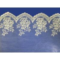 Quality African lace fabrics Embroidery Lace Fabric cord guipure white lace fabric for sale