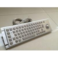 Buy Braille Industrial Metal Keyboard / Stainless Steel Keyboard With Trackball at wholesale prices