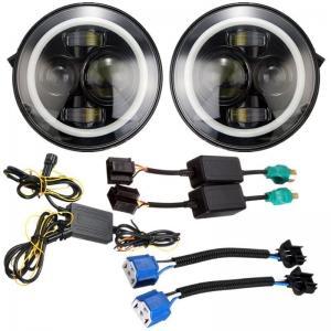 Quality Angel Eyes Halo Car Lights IP 68 6500K-7000K Halo Jeep Headlight Work Light for sale