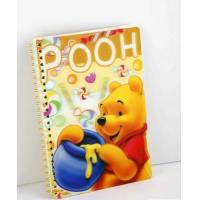Quality OK3D Manufacture High Quality Customized 3d lenticular notebook cover printing service with pp pet book cover for sale