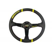 Quality 3 Inch Diameter Race Car Steering Wheel , Leather Steering Wheel Cover  for sale