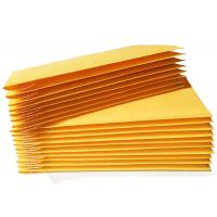China 100% Recyclable Material Kraft Bubble Mailer Yellow Color Custom Size Envelopes for sale
