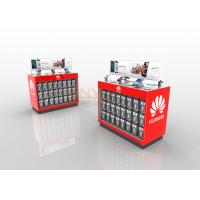 Quality Red LED Custom Floor Retail POP Displays With Silk Screen Printing for sale