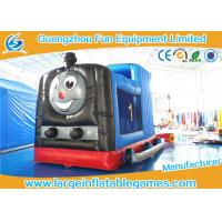 Quality Train Shape Inflatable Bouncy Castle Printing Art Panel For Business Hire for sale