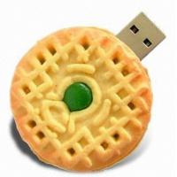 Quality 4GB - 16GB customizable usb flash drive pVC biscuit flash memory gifts for kids for sale