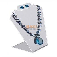 Buy Black Jewellery Necklace Display Stands Two Holes For 2 Necklace And 1 Set Earrings at wholesale prices