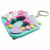 Quality Silicone Rubber Keychain/Keyring for Promotional, OEM Orders Welcomed for sale