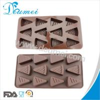 China Eco-Friendly 12 Cavities Cheese Shaped Triangle Shape Silicone Chocolate Mold Candy Mold on sale
