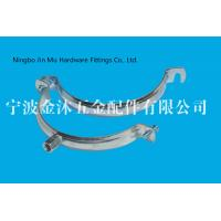 Quality M8 / M10  Hole Metal Tube Clamps With Electro Galvanized Surface , Bandwidth 20mm for sale