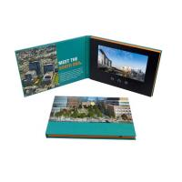 Quality Advertising Promotion Video Brochure Card 7 Inch Lcd Video Book Four Color Printing for sale