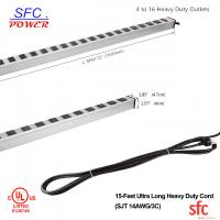 "Buy 24"" Horizontal Metal Multi Socket Extension Lead Grounded 16 Way With Circuit at wholesale prices"