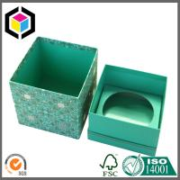 Buy cheap Luxury Handmade Color Print Gift Packaging Box; Blue Color Paper Box from wholesalers