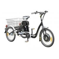 Quality 22  Electric Adult Tricycles Black 3 Wheel Electric Trike With Rear Luggage Carrier for sale