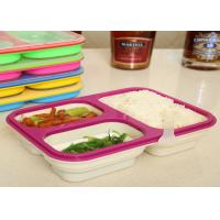 Quality Easy - Clean Eco Silicone Collapsible Lunch BoxNon Stick FDA / LFGB Standard for sale