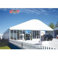 White New Product Show Clear Span Tent Arcum Shaped Fabric Cover & Sidewalls for sale