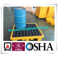 Quality Oil Drum Spill Pallet Containments , Fire Resistant File Cabinet For Drum Spill Pallet for sale