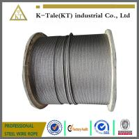 China 8x19S+hemp core or sisal core steel wire ropes for elevator on sale