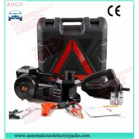 Quality black electric hydraulic jack with impact wrench and inflating pump for sale