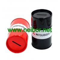Quality Oil drum shape tin money box coin bank as promotion gifts for sale
